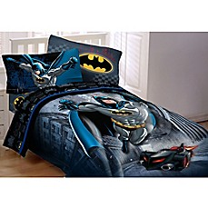 image of DC Comics™ Batman Guardian Speed Comforter Set in Black/Blue