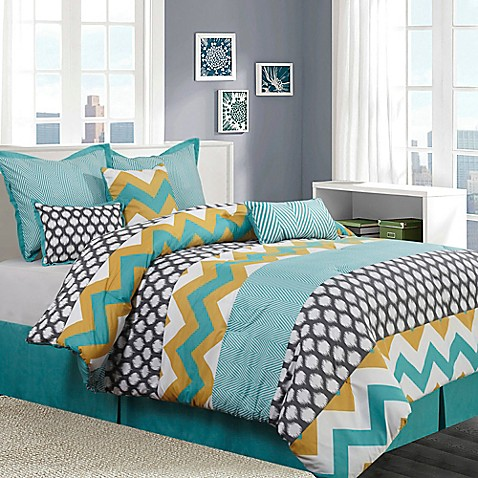blue and yellow bedroom nanshing nolan 7 comforter set in blue yellow bed 4801