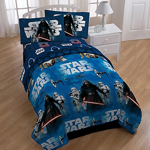 Star Wars The Force Awakens 4 Piece Twin Comforter Set