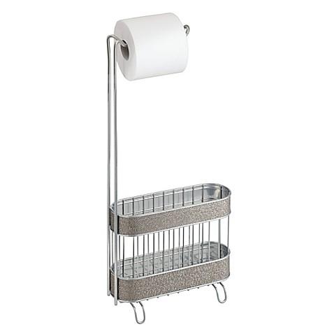 Interdesign twillo toilet paper holder and magazine rack bed bath beyond - Interdesign toilet paper holder ...
