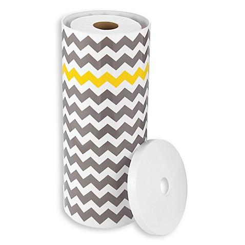 Interdesign 3 roll standing toilet paper holder in grey yellow bed bath beyond - Interdesign toilet paper holder ...