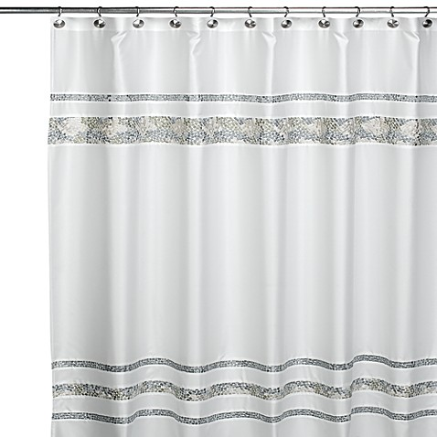 Croscill 174 Spa Tile 72 Inch X 84 Inch Fabric Shower Curtain