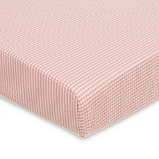 image of Glenna Jean Cottage Rose Fitted Crib Sheet in Pink