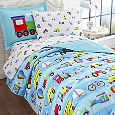 image of olive kids on the go 5piece twin bedding set in blue