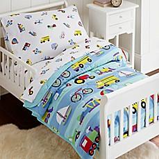 olive kids on the go 4 piece toddler bedding set in blue - Toddler Bedding Sets