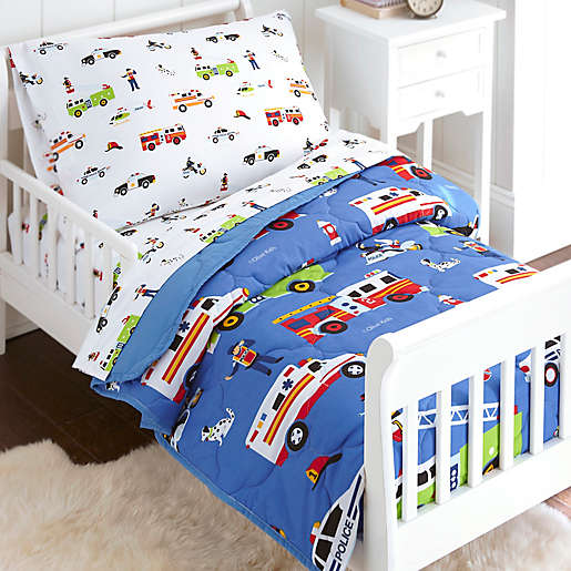 Olive Kids Heroes 4 Piece Toddler, Police Baby Bedding
