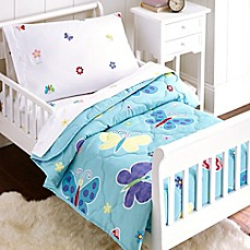 image of Olive Kids Butterfly Garden 4-Piece Toddler Bedding Set in Blue