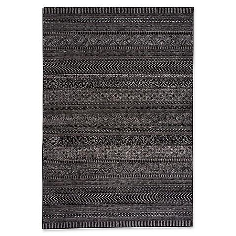 Capel Rugs Channel Stripe Area Rug In Black Bed Bath