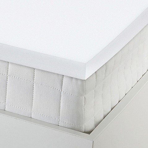 buy pharmedoc 2 inch twin xl memory foam mattress topper in white from bed bath beyond. Black Bedroom Furniture Sets. Home Design Ideas