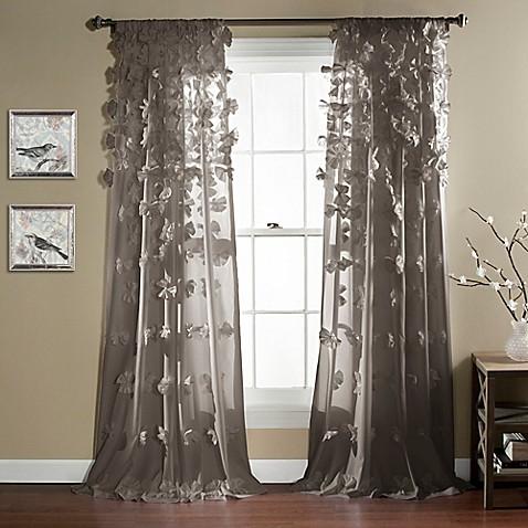 lush d cor riley 84 inch rod pocket window curtain panel bed bath beyond. Black Bedroom Furniture Sets. Home Design Ideas