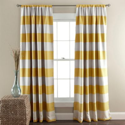 Buy Yellow Room Darkening Curtains from Bed Bath & Beyond