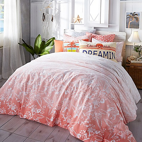 Hang Ten Ombre Hibiscus Comforter Set In Coral Bed Bath