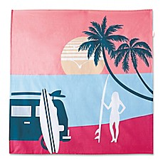 image of Hang Ten Sunset Stripe Endless Summer Tapestry in Coral