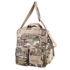 image of Lillian Rose™ Military Camouflage Daddy Diaper Bag in Tan/Green