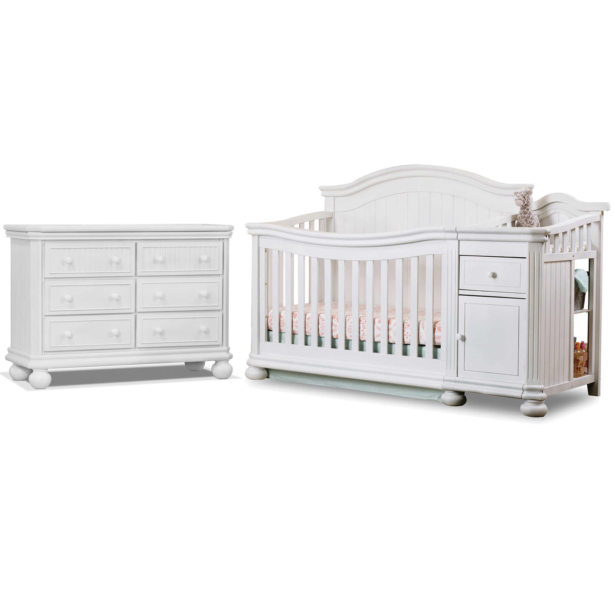 white fairbanks walmart crib convertible evolur com with drawers in ip