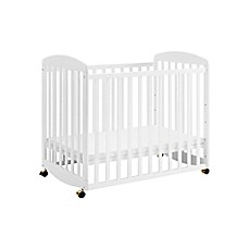 image of DaVinci Alpha Mini Rocking Crib in White