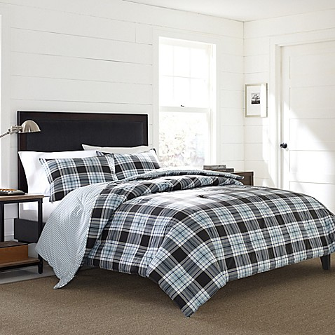 eddie bedding microfiber woolrich full comforters dune bedroom ultra bauer grey plaid size bed set com river white sets amazon dp blue queen soft ac pieces comforter rugged