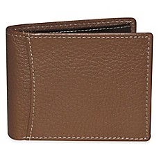 Dopp® Hudson RFID Flip-Out Double ID Slimfold Wallet in Tan