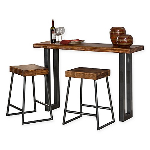 Hillsdale Emerson 3 Piece Sofa Table And Counter Stools