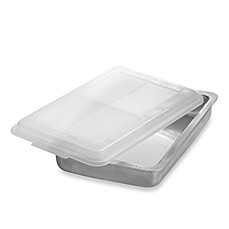 image of AirBake® Ultra™ 9-Inch x 13-Inch Insulated Covered Aluminum Cake Pan