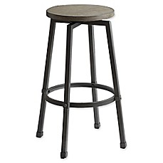image of Modern Farmhouse Adjustable Bar Stool in Grey