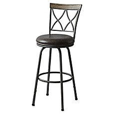 image of Modern Farmhouse Adjustable X-Back Stool in Grey