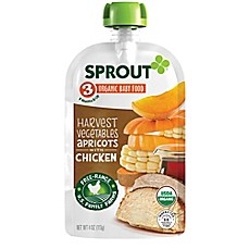 image of Sprout® 4-Ounce Stage 3 Organic Baby Food in Harvest Vegetables & Apricot with Chicken