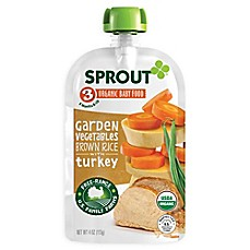 image of Sprout® 4--Ounce Stage 3 Organic Baby Food in Garden Vegetables with Turkey