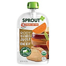image of Sprout® 4-Ounce Stage 3 Organic Baby Food in Root Vegetables with Beef