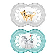 image of MAM Animals 6 Months 2-Pack Pacifiers in Green