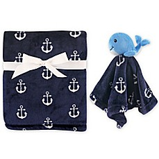 image of Hudson Baby® Plush Security Blanket Set in Blue
