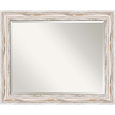 image of 27-Inch x 33-Inch Alexandria Bathroom Mirror in Whitewash