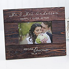 image of Rustic Elegance Wedding 4-Inch x 6-Inch Picture Frame