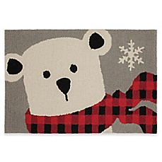 image of Mohawk Home Winter Polar Bear 30-Inch x 20-Inch Holiday Rug