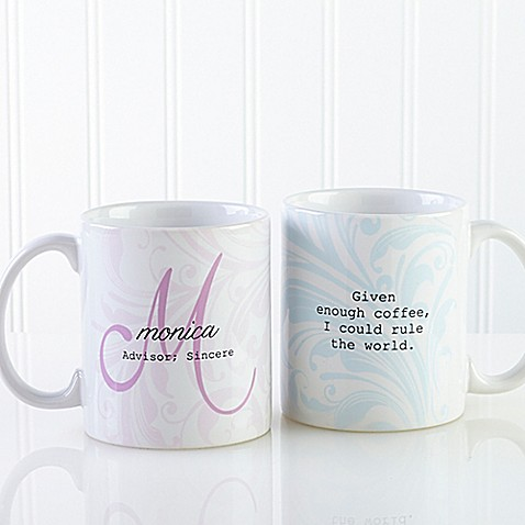 Name meaning 11 oz coffee mug in white bed bath beyond for Mug handle ideas