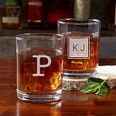 image of Classic Celebrations Old Fashioned Glass with Monogram