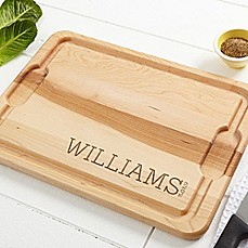 image of Family Name Established Cutting Board in Maple