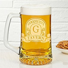 image of Vintage Bar Sign 25 oz. Deep Etch Beer Mug