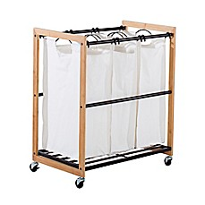 image of trinity ecostorage 3bag laundry cart in bronze