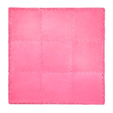 image of Tadpoles Plush 9-Piece Play Mat in Bright Pink