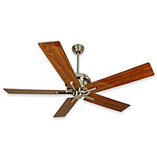 image of Design Trends Grant Ceiling Fan in Polished Nickel