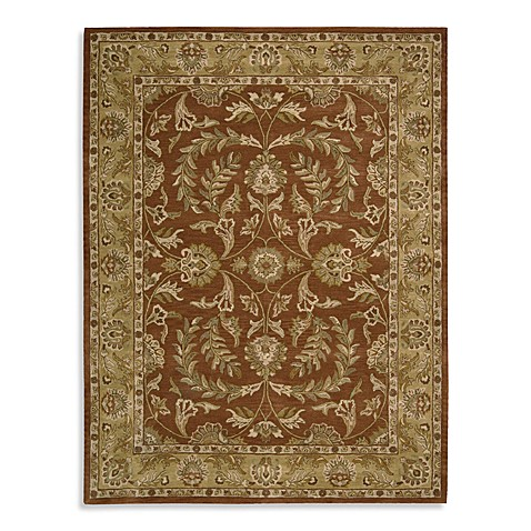 "Nourison India House 8' x 10'6"" Hand Tufted Area Rug in Rust"