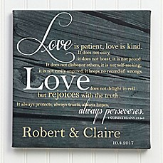 image of Love is Patient Canvas Print