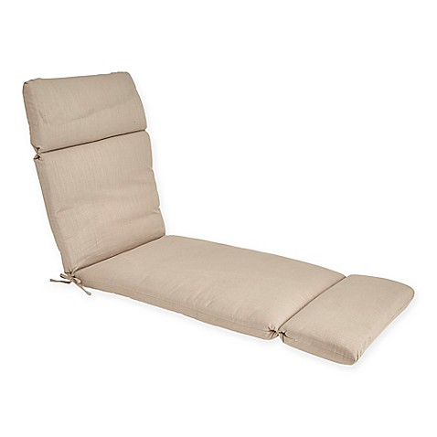 Buy outdoor forsyth chaise lounge cushion in sand from bed for Buy chaise lounge cushion