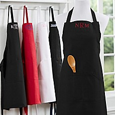 image of Embroidered Kitchen Apron