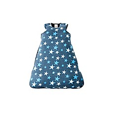 image of Gunamuna Gunapod® Newborn Stars Luxury Duvet Swaddle Sack with WonderZip® in Blue