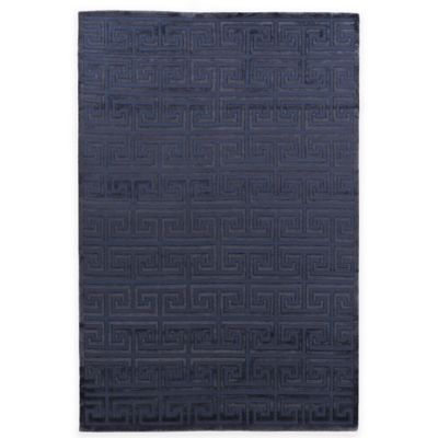 image of Exquisite Rugs Metro Velvet Square Spiral Rug in Navy