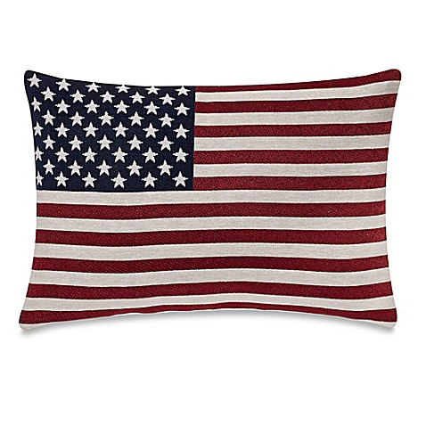 Make Your Own Decorative Pillow Covers : Make-Your-Own-Pillow Americana Oblong Throw Pillow Cover in Red - Bed Bath & Beyond