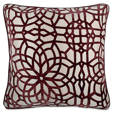 Make Your Own Decorative Pillow Covers : Buy Make-Your-Own-Pillow Cervella Velvet Square Throw Pillow Cover in Red from Bed Bath & Beyond