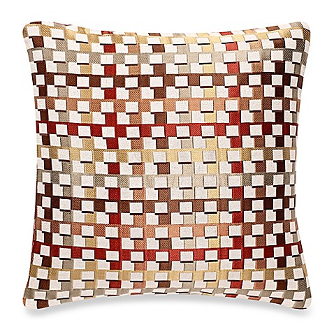 buy make your own pillow crisscross throw pillow cover in burgundy gold from bed bath beyond. Black Bedroom Furniture Sets. Home Design Ideas